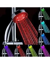 Bluelover LED de 7 colores al azar cambia generacion hidroelectrica ducha