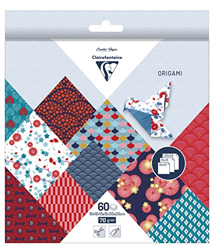 60 Blatt Origami Papier Hanayo, 3 Größen / Bastelpapier 10, 15 und 20 cm