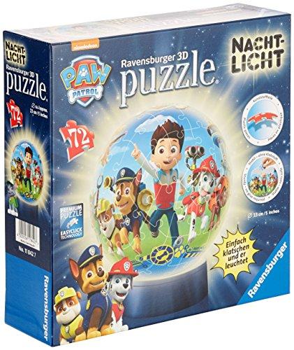 Ravensburger 11842 Paw Patrol Nachtlicht 72 Teile Puzzleball (Spiel Paw Patrol)