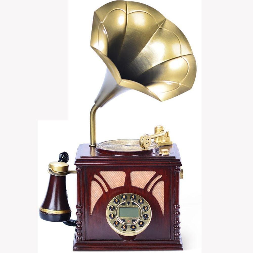 BBIAY Home Scrivania Telefono Retro Artigianale Stile Grammofono Stile di Personalità Stanza Di S
