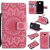 BestCatgift K5 Wallet Case, [Sun Flower] K5 PU Leather