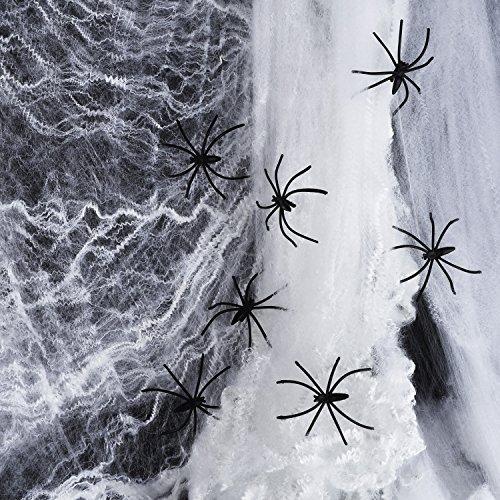 100 g Halloween Dekorationen Spinnennetz mit 104 Stück -