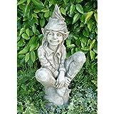 Vidroflor Gartenfigur | Elfe SUSAN | H:66 cm | 27 kg | aus massivem Steinguss