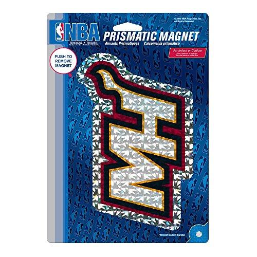 Kühlschrank Vinyl Cover (Wincraft Snack-Schale Miami Heat Offizielle NBA 15,2x 22,9cm Auto-Magnet von 832214)