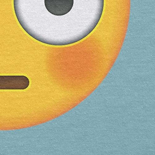 TEXLAB - Flushed Face Emoji - Damen T-Shirt Hellblau
