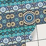 creatisto Carrelage adhesif - Cuisine et Salle de Bains I Sticker Carrelage Autocollant - Aménagement de escalier - Carrelage musaique (15x20 cm I 12 - Pièces)