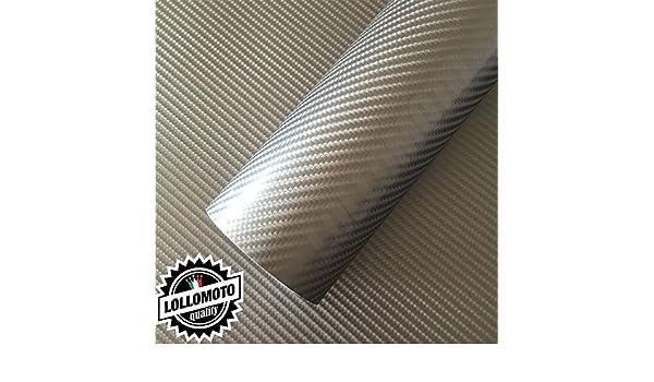 Lollomoto Offerta 150x10mt Carbonio 4D Dark Grey Pellicola Adesiva Rivestimento Auto Car Wrapping