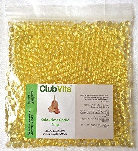 Club Vits Olio Aglio (Senza odore) 2mg - 1000 pillole