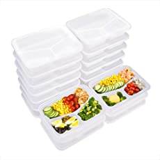 3-Fach Meal Prep Container Set-20er Pack