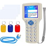 FST 10 English Frequency RFID Reader Writer 125KHz Copier Duplicator 13.56MHz Encrypted USB Card Reader + T5577 /UID Writable
