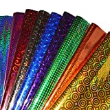 #10: TOTAL HOME : wrapping paper Premium 25 Sheets Multicolor Plastic Holographic Metallic Wrapping Paper Gift Wraping Christmas gift and new year gifts color Paper Gift Wrapping sheets especially for gifts for loved (Made in USA) Sheet Size : 24INCH x 17INCH