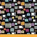 Soimoi 60 Zoll breite Fernseher Druck 2-Wege-Stretch-Samt-Gewebe 180 GSM Per Meter-Schwarz