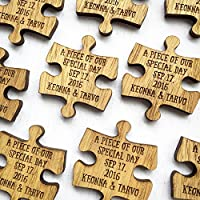 Mr & Mrs PUZZLE Table Decoration Wedding Favours Table Confetti Personalised Wedding Confetti