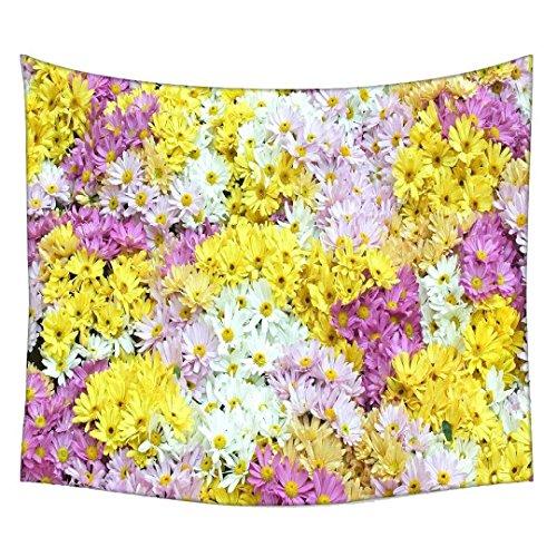 Snoogg Dreams Fields Blume Wandteppichen indischen Mandala Tapisserie Dekorative Wohnheim Wandteppichen Beach Picknick Tabelle Hippie Tapisserie Wand, Bohemian