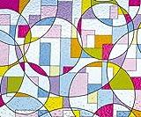 Linea fija de decoración de lámina estática con adhesivo para ventanas de coloures y lámina de...