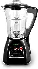 NutriChef PKSM240BK 3-in-1 Digital Electronic Soup Cooker,Soy Milk Maker Blender, Juice Drink Maker, Black