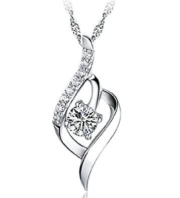 925 sterling silver statement crystal pendant necklace for women 925 sterling silver statement crystal pendant necklace for women fashion jewelry accessories amazon jewellery aloadofball Gallery