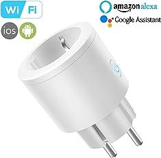Presa Intelligente Wi-Fi, InThoor Smart Socket funziona con Amazon Alexa, Assistente di Google, IFTTT, con la funzione di temporizzazione, Nessun Hub richiesto, EU plug