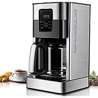 Cafetière Filtre, 1,8L Machine à Café Électrique avec Verseuse en Verre, Cafetière Goutte à Goutte Programmable en Acier…