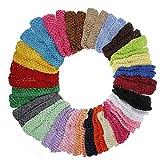 30pcs varios colores color para bebé niñas Crochet diadema elástica diadema accesorios para el pelo