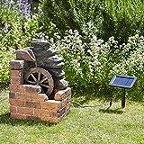 Fontaine Solaire avec Moulin à Eau Heywood par Smart Solar - Décor de Jardin Zen...