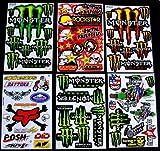 6 BLATT SELBSTKLEBENDE AUSSCHNEIDEN AUFKLEBER b/mm1 VINYL MOTOCROSS FÖRDERUNG MX RC GT BMX BIKE SCOOTER + + +