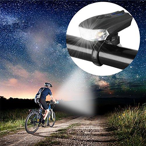 MACHFALLY Fahrradbeleuchtung, Fahrrad Licht LED USB Set mit Automatisch Einstellbarer Helligkeit, Wasserdichte Fahrradlampen inkl. Frontlicht und Ruecklicht , 1200 mAh Akku-Fahrradlampen fuer Kinder- , Herren- und Damenraeder (Frontlicht&Ruecklicht Set) - 2