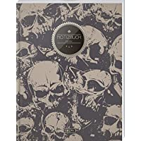 """TULPE Blanko Notizbuch A4 """"C044 Totenköpfe"""" (140+ Seiten, Vintage Softcover, Seitenzahlen, Register, Weißes Papier - Dickes Notizheft, Skizzenbuch, Zeichenbuch, Blankobuch, Sketchbook)"""