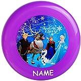 alles-meine.de GmbH 3 Stück _ Frisbee Scheiben - Wurfscheiben -  Disney die Eiskönigin - Frozen  - incl. Name - Ø 23,5 cm - Schwebedeckel - für Kinder / Erwachsene / Hunde - Ki..