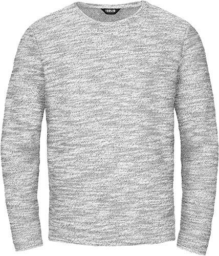 SOLID Herren Strick Pullover TIMO Sweatshirt Sweater O-Neck Rundhals-Ausschnitt, Farbe: (grau) light grey melange (8242), Größe: L