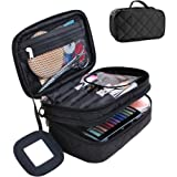 حقيبة مكياج للنساء مع مرآة، حقيبة حقيبة حقيبة لوميزي، حقائب فرش المكياج للسفر ومنظم أدوات التجميل