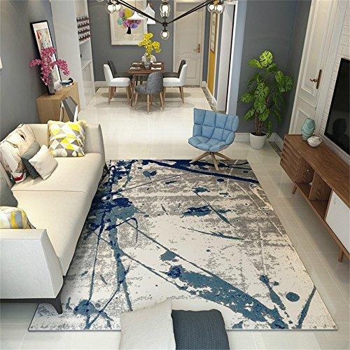 Nordic Style Area Teppich Für Wohnzimmer Esszimmer Und Schlafzimmer Modern  Sofa Bett Beistelltisch Teppich Mit Blauer