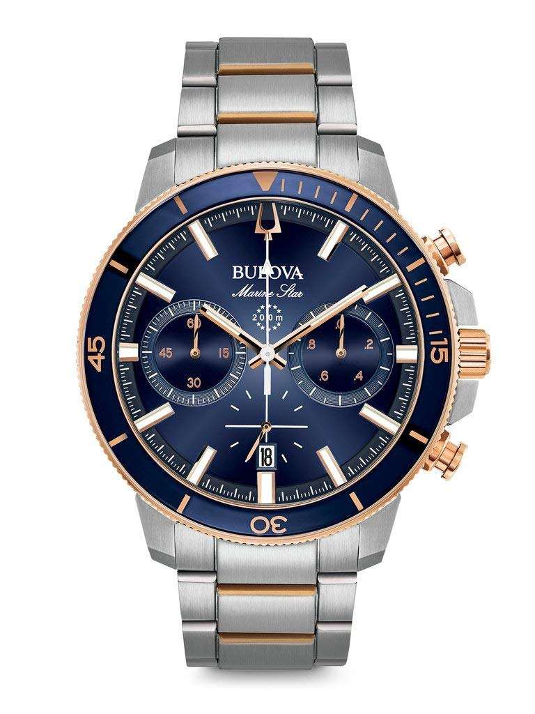 Bulova Mens Chronograph Quartz Watch with Stainless Steel Strap 98B301