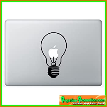 gl hbirne lampe apple aufkleber sticker f r macbook air 11 13 macbook skin 13 15 17 zoll. Black Bedroom Furniture Sets. Home Design Ideas