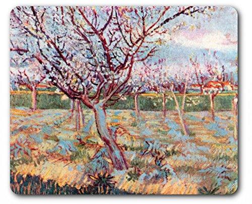 1art1-88940-vincent-van-gogh-bluhende-baume-1888-mauspad-23-x-19-cm