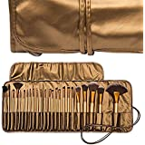 Ladista 24 Pieces Professional Makeup Brush Set With Travel And Carry Case - Golden
