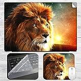 Abstract Lion Laptop Skin + Mousepad Com...