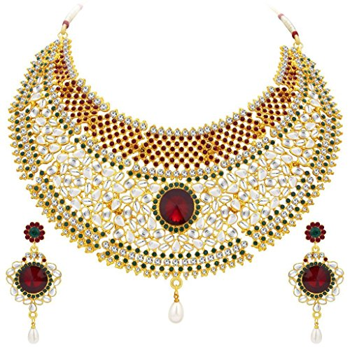 Sukkhi Resplendent Gold Plated Kundan Necklace Set For Women