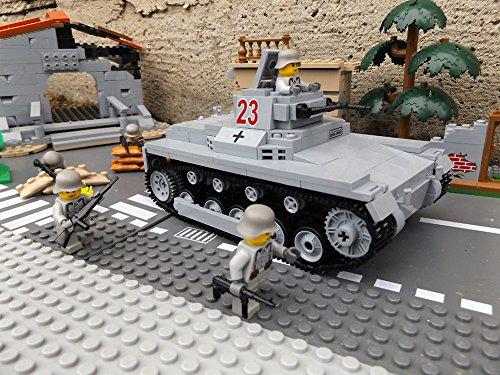 Modbrix 2474 - ✠ Bausteine Panzer Pzkpfw I Ausf. B inkl. custom Wehrmacht Soldaten aus original Lego© Teilen ✠ thumbnail