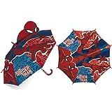 ARDITEX SM13375 Paraguas de poliéster de Marvel-Spiderman en 3D, 8 Paneles, diámetro 86cm, Apertura Manual