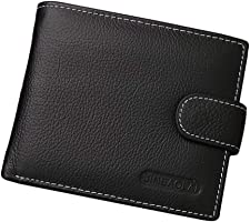 Large Leather Men Wallets, High-capacity Zipper Design Purses, Multi Card Holder for Men Wallets