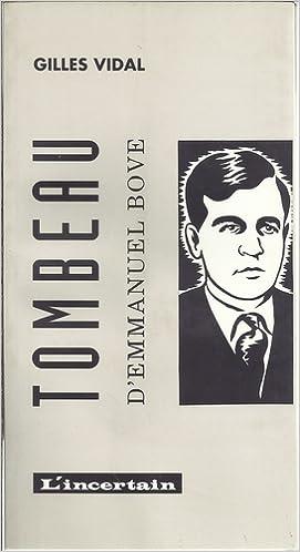 Livres Le Tombeau d'Emmanuel Bove epub, pdf