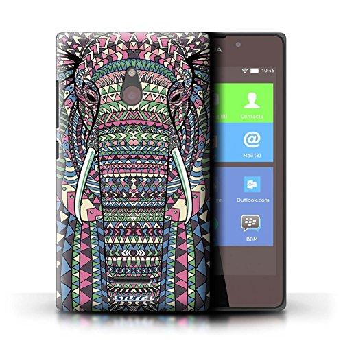 Kobalt® Imprimé Etui / Coque pour Nokia XL / Tigre-Rouge conception / Série Motif Animaux Aztec éléphant-Couleur
