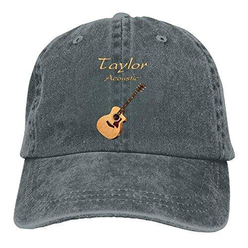 Anginry Taylor Acoustic Guitars Denim Hat Adjustable Women's Stretch Baseball Caps Cap hat Custom Fit Stretch Cap