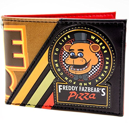 Price comparison product image Freddy Fazbear Five Nights Game Over Black ID & Card Bi-Fold Wallet