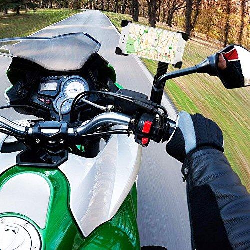 Preisvergleich Produktbild Moto Halterung Xiaomi Mi Mix 2S Ladegerät Rückspiegel Moto aber sicher des Marktes Neue Halt Extrem Hart Xiaomi Mi Mix 2S Motorrad Halterung mit Ladegerät Halterung Mein Mix 2S Spiegel Moto Ladegerät schwarz