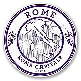 2x Rom Italien Vinyl Aufkleber Aufkleber Laptop Reise Gepäck Auto Ipad Schild Fun # 6045 - 20cm/200mm Wide