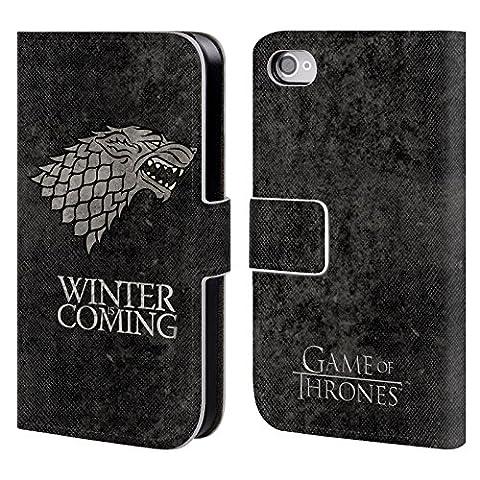 Coque Iphone 4 Cuir - Officiel HBO Game Of Thrones Stark Symboles