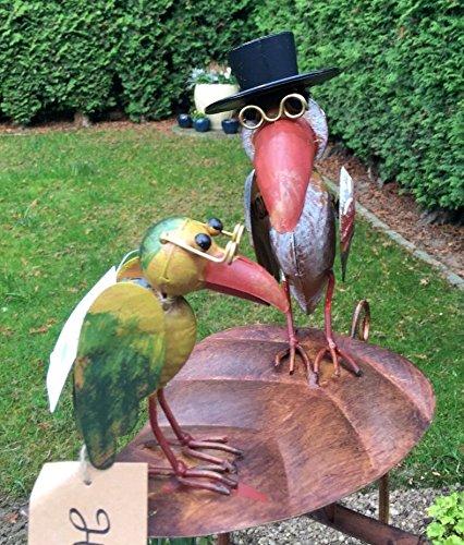 Windspiel wippe gartenstecker rabe mit hut vogel Amazon freistehende markisen