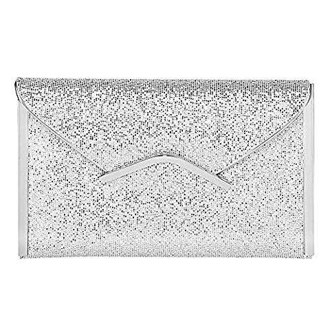clasichic , Pochettes Fille femme - argent - Silver,